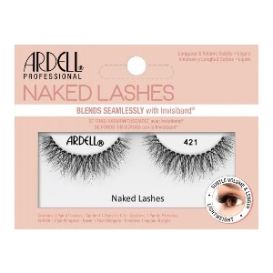ARDELL NAKED LASH 421 - Best Lashes for Beginners: Features A Super Soft and Comfortable Invisiband
