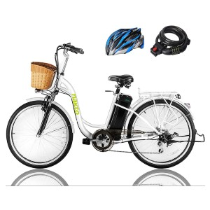 Nakto Cargo Electric Bicycle - Best Electric Bike for Seniors: Electric Bike with Horn and a Bright LED Headlamp
