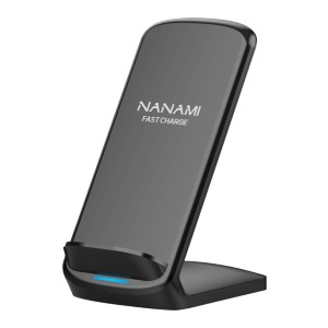 NANAMI Upgraded Fast Wireless Charger - Best Wireless Charger Stand: No Wires, No Beeps, No Lights