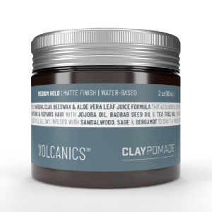 Volcanics CLAY POMADE - Best Pomade for Long Hair: For Hair that Looks and Feels Great All Day Long