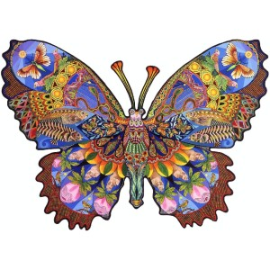 Boardwalk Puzzles NEW ANIMAL BUTTERFLY - Best Wooden Puzzles: Vibrant Use of Colors