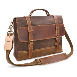 NEWHEY Large Satchel Shoulder Bag - Best Bags for Teachers: Sturdy Enough to Stand On Its Own