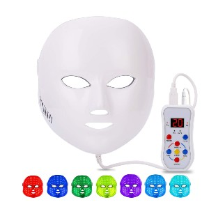 NEWKEY Led Face Mask Light Therapy - Best Light Therapy Mask for Rosacea: Variety of Light Settings