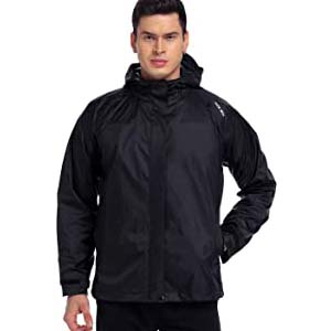 NICEWIN Portable Front Zip Rain Jacket - Best Raincoats Amsterdam: Pocket-size design for easy carrying