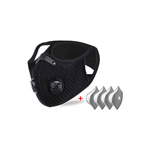 NKTECH Dustproof Mask Elastic Activated Carbon Riding Mask for Motorcycling Woodworking Cycling Running Bicycle - Best Masks for Working Out: Efficient Filtering and Multi Application.