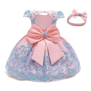 NNJXD Toddler Princess Flower Dress Baby Girls - Best Party Wear Dress for Baby Girl: Slim waist for noble posture