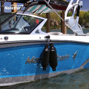 NORESTAR Ribbed Boat Fenders - Best Boat Fenders for Pontoon: Can Be Easily Inflated to The Desired Pressure