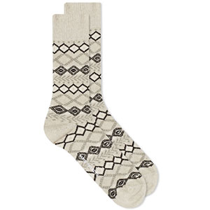 NORSE PROJECTS BJARKI FAIR ISLE SOCK - Best Socks for Men: Traditional Fair Isle Design