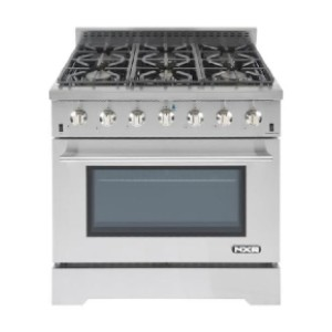 NXR LS 36-in 6 Burners 4-cu ft Convection Oven Freestanding Gas Range - Best Ranges for Home Chefs: Supports all your cooking needs