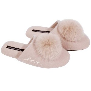 Naked Cashmere PUFF LOVE SLIPPER - Best Women's House Slippers: Flexible Suede Outsole