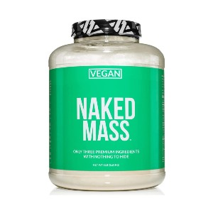 Naked Nutrition Vegan Mass - Best Mass Gainer for Skinny Guys: Ideal for Weight Gainer Shakes