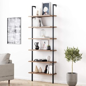 Nathan James Theo 6-Shelf Tall Bookcase - Best Bookcases for Heavy Books: Space-Saving Design