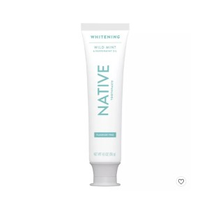 Native Whitening Wild Mint & Peppermint Oil - Best Toothpaste without Fluoride: Best for minimalists