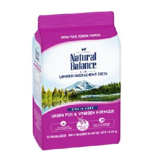 Natural Balance L.I.D. Limited Ingredient Diets Green Pea & Venison Grain-Free Dry Cat Food - Best Food for Cats with Allergies: Venison Food Formulation