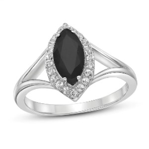Jared Natural Onyx & Natural White Topaz Ring - Best Jewelry for College Graduation: Classy but not flashy