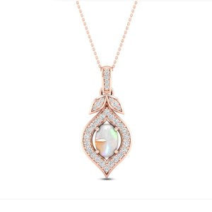Jared Natural Opal Necklace - Best Jewelry for 30th Birthday: Gorgeous oval-cut
