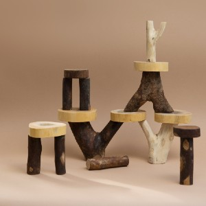 Happy Little People Natural Timber Balancing Trees - Best Educational Toys for 5 Year Olds: Gorgeous stacking toys