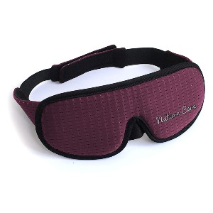 Nature Care Sleeping Mask with Breathable Membrane and Elastic Strap  - Best Sleep Mask Side Sleepers: Circular Padding Over the Eyes