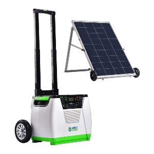 Natures Generator Off-Grid Generator + 100W Solar Panel - Best Portable Power Station with Solar Panels: Solar and wind combo