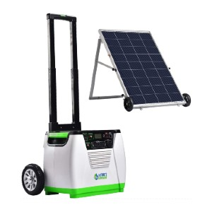 Natures Generator Off-Grid Generator + 100W Solar Panel - Best Budget Power Station: Powered by wind