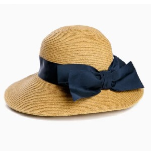 Tuckernuck Navy Packable Wide Bow Sunhat - Best Beach Hat Women: Wear to the Beach with Your Favorite Tunic
