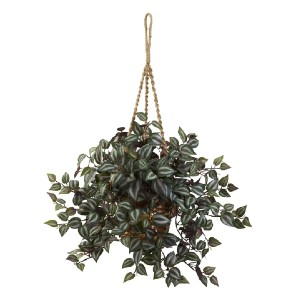 Nearly Natural Wandering Jew - Best Artificial Hanging Plants: Ideal for Home or Office