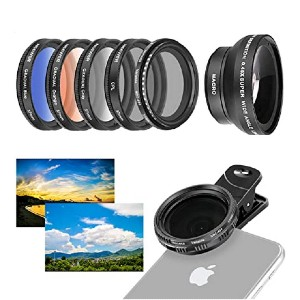 Neewer 37mm Cell Phone Lens Accessory Kit - Best Circular Polarizing Filters for Iphone: Deliver dramatic effects
