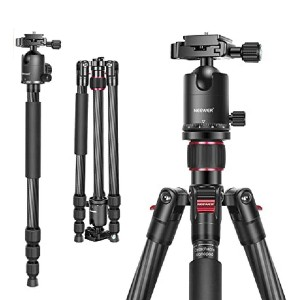 Neewer Carbon Fiber Camera Tripod - Best Selfie Stick Tripods for DSLR Camera: Perfect for panoramic shooting