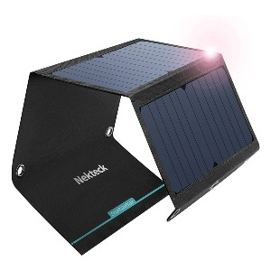 Nekteck 21W Solar Charger - Best Solar Panel for Backpacking: Resistant to water and dust