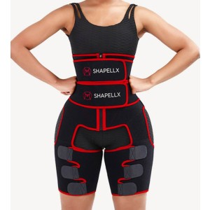 Shapellx NeoSweat™ Exclusive 3-In-1 - Best Waist Trainer for Women: Helps Shed Excess Water Weight