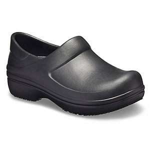 Crocs Neria Pro II Black Clog - Best Waterproof Shoes for Nurses: Fully Molded. Easy to Clean with Soap and Water