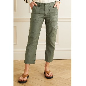 Net-A-Porter Service cotton-canvas straight-leg pants - Best Cargo Pants for Women: Best Casual Military Style Cargo Pants