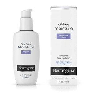 Neutrogena Oil-Free Facial Moisturizer - Best Moisturizer for Sensitive Face Skin: Non-comedogenic, fragrance-free, oil-free