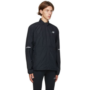 New Balance Black Accelerate Protect Jacket - Best Jacket for Wind: Water and wind-resistant jacket