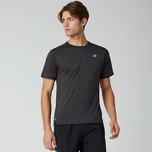 New Balance Impact Run Short Sleeve - Best Men's Running Shirt: Stay cool with NB ICEx material