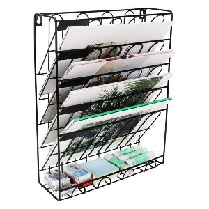 Superbpag Hanging File Organizer - Best Magazine Storage: Excellent bottom tray