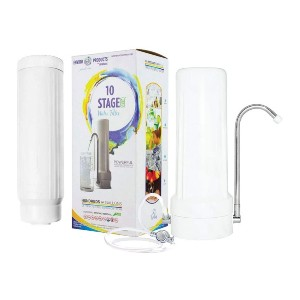 New Wave Enviro 10 Stage Plus Water Filter System  - Best Water Filter Countertop: No more single-use plastic bottles