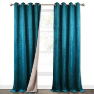 NICETOWN 2 Layers Soundproof Blackout Velvet Curtain (1 Panel) - Best Curtain to Block Light: 100% Blackout Curtain