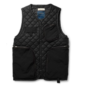 Nicholas Daley Lavenham Quilted Cotton and Nylon Gilet - Best Vests for Winter: Vest with Black Quilted Cotton