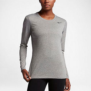 Nike Legend Long Sleeve - Best Women's Running Shirts: Long sleeve design with breathable fabric