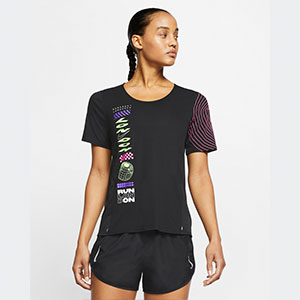 Nike Women's Short-Sleeve Running Top Nike City Sleek London - Best Women's Running Shirts: Running shirt with  Dri-FIT Technology