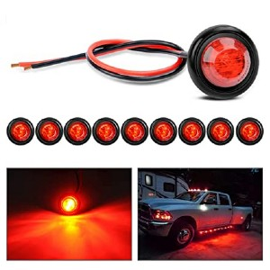 Nilight TL-04 10 PCS 3/4 Inch Round LED  - Best LED Side Marker Lights: Lives up to 100,000 hours!