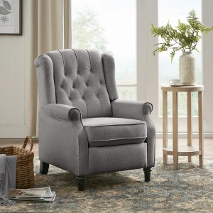 Charlton Home® Nine  - Best Recliners for Small Spaces: Made of High-Quality Fabric