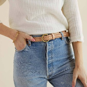 Nisolo Talia Braided Belt - Best Belts for Women's Jeans: Vintage Woven Leather Belts