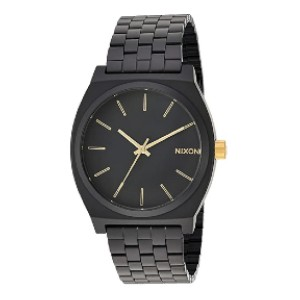 NIXON Mens Time Teller Metallica Collection  - Best Watch Gift for Boyfriend: Black is never wrong