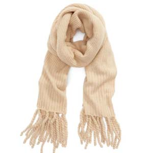 Nordstorm Jaden Rib Knit Blanket Scarf - Best Scarves for Winter: Minimalist with gorgeous details