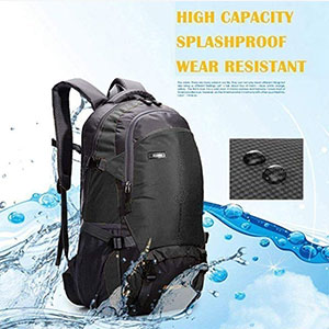 Norston Camping Rucksack - Best Backpack for Travel: Backpack with compression straps