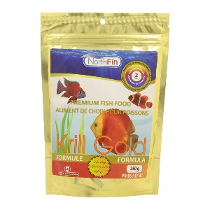 Northfin Food Krill Gold - Best Freshwater Angelfish Food: One Protein Source Formulation