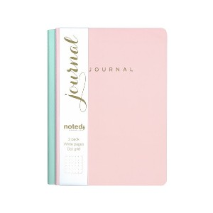 Noted Dotted A5 Notebook - Best Notebooks for College: Beautiful Pastel Mint Colour Cover