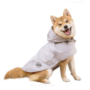 Nourse Raincoat with Visibility Reflective Safety Strip - Best Raincoats for Dogs: Raincoat with Waterproof Windshield